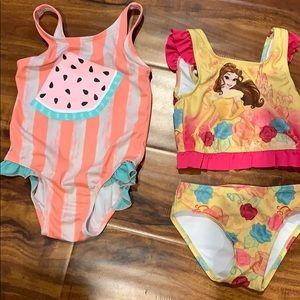 Toddler girl bathing suit bundle